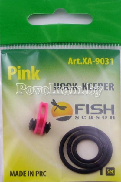 Держатель крючка на бланк удилища Fish season Розовый 1уп.