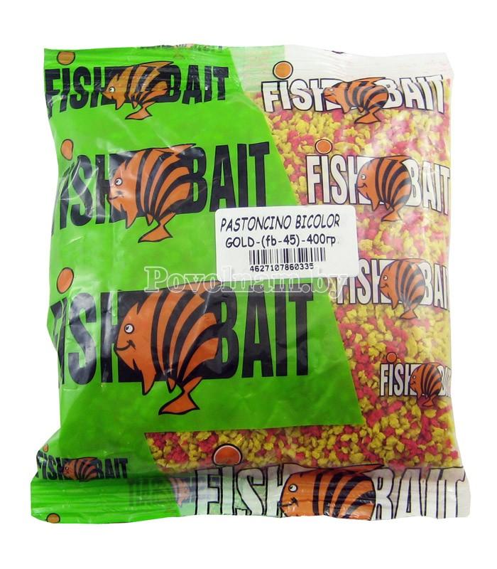 Добавка FISHBAIT Pastoncino-Bikolor, Красный_Желтый  0.4 кг.