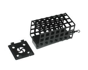 Кормушка ЛИМАН квадрат, черная с дном