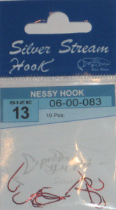 Крючки NESSY HOOK red № 13