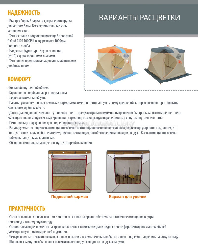 Палатка Митек Омуль-Куб описание 2
