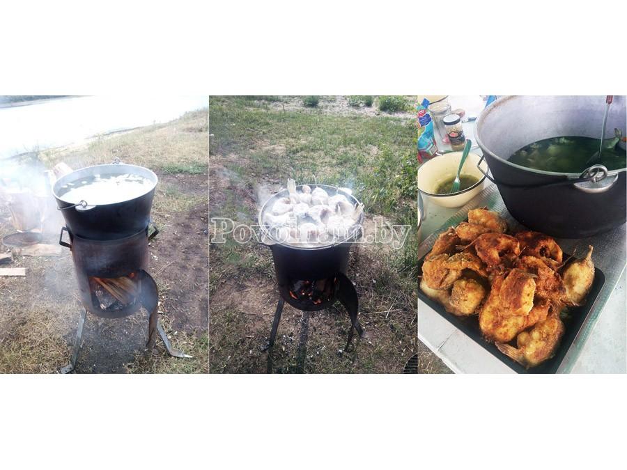Печка для казана 3