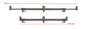 Перекладина HK0001 Adj. Stainless Steel buzzer bar 3x 26-32-0044