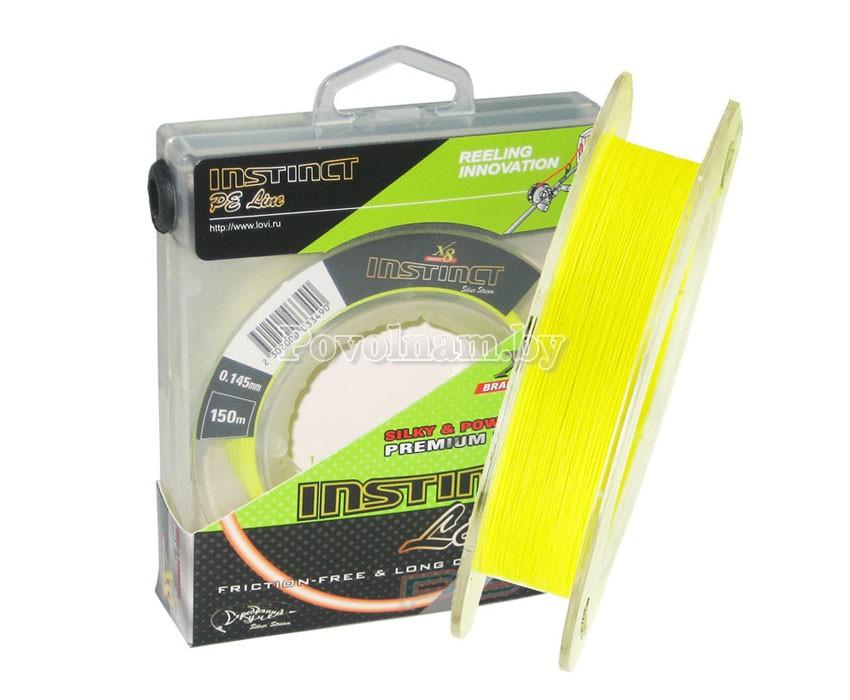 Плетеная леска INSTINCT Line жёлтый флю