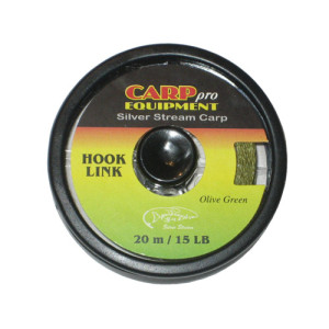 Поводковый материал тонущий HK3707-15 Hooklink Fast Sinking цвет Olive Green 15lb 20m