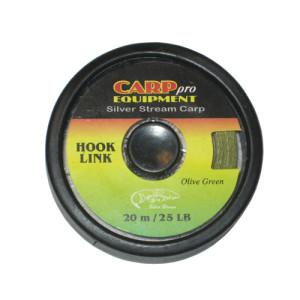 Поводковый материал тонущий HK3707-25 Hooklink Fast Sinking цвет Olive Green 25lb 20m