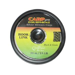 Поводковый материал тонущий HK9300-25 Hooklink Fast Sinking цвет Black Green 25lb 20m