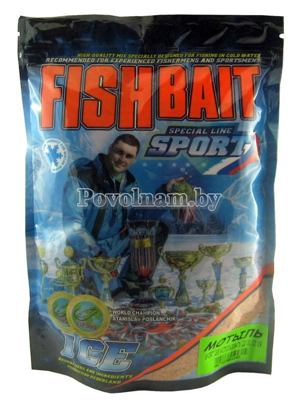 Прикормка FISHBAIT серия ICE-Sport для холодной воды Мотыль 750 гр.