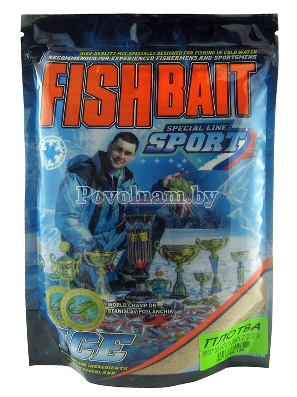 Прикормка FISHBAIT серия ICE-Sport для холодной воды Плотва 750 гр.