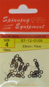 ROLLING SWIVEL X-PATTERN ROUND EYE №4