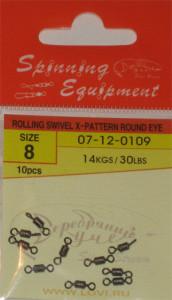 ROLLING SWIVEL X-PATTERN ROUND EYE №8