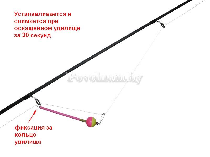 Сигнализатор поклёвки Шумовой L-160мм красный_желтый 2