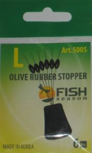 Стопор резиновый оливка, №L, упаковка 6 шт.