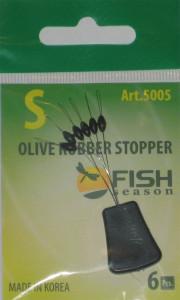 Стопор резиновый оливка, №S, упаковка 6 шт.