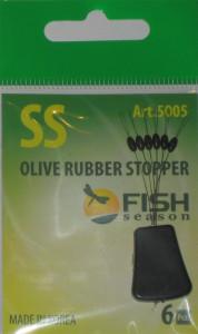 Стопор резиновый оливка, №SS, упаковка 6 шт.