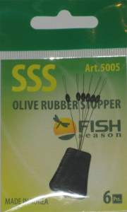 Стопор резиновый оливка, №SSS, упаковка 6 шт.