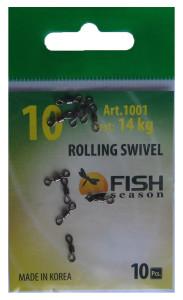 Вертлюжки  Rolling Swivel 14 кг.