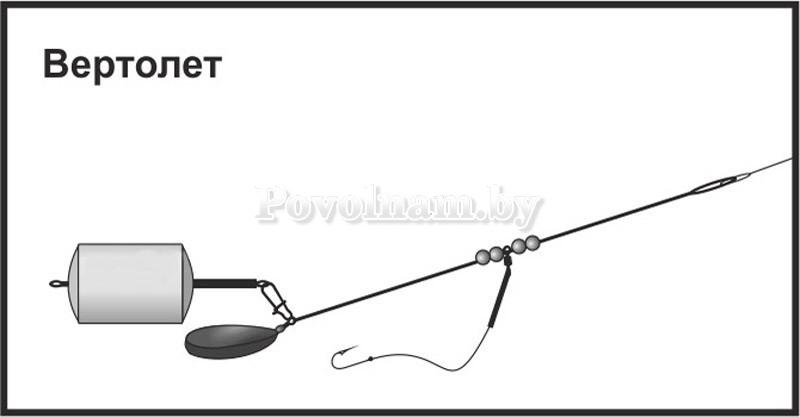 Рыболовная снасть вертолет своими руками