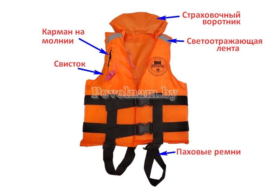 Жилет спасательный Поплавок до 35-50 кг. MedNovTex